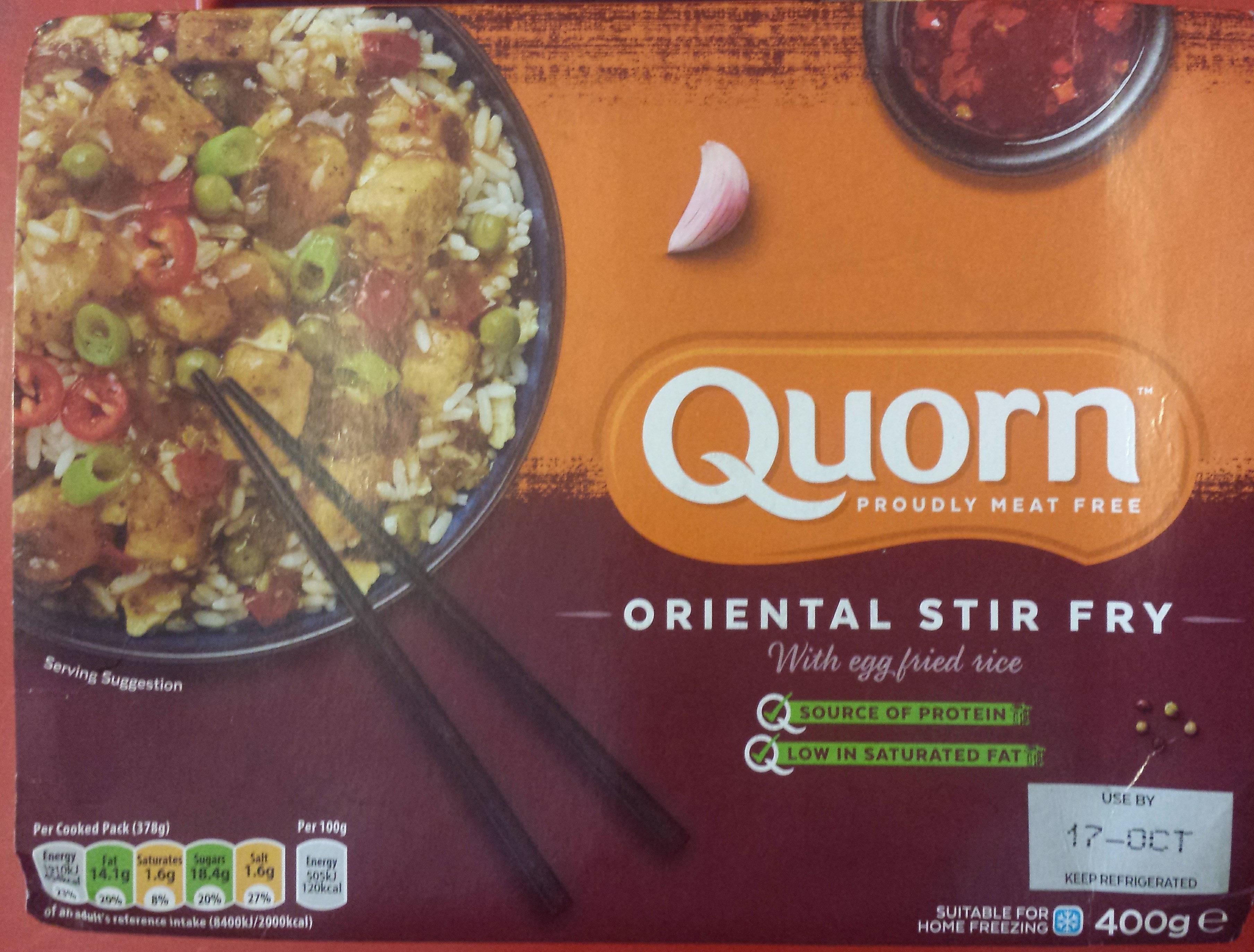 Oriental Stir Fry with Egg fried rice - Produit - en
