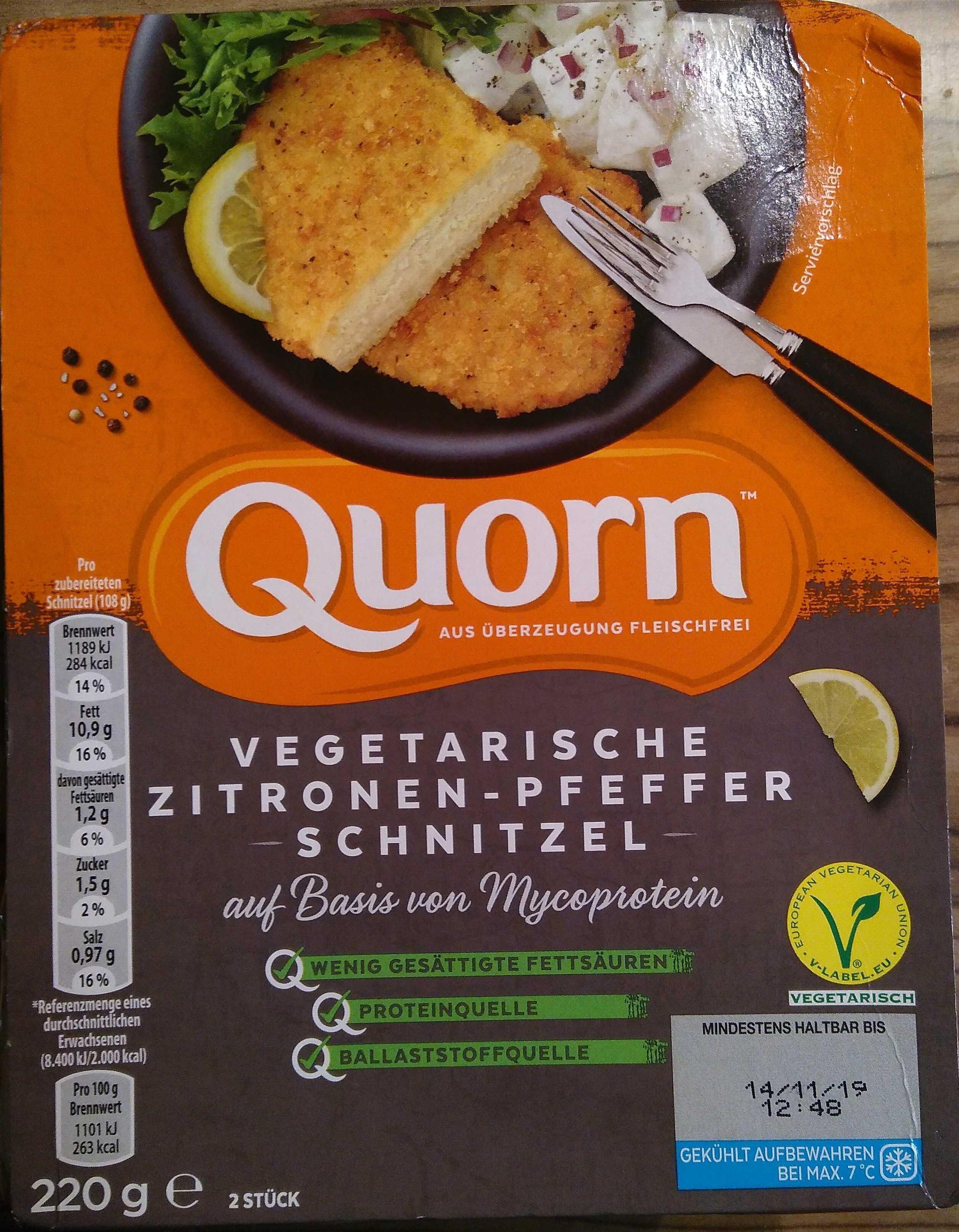 Vegetarische Zitronen-Pfeffer Schnitzel - Produit - de