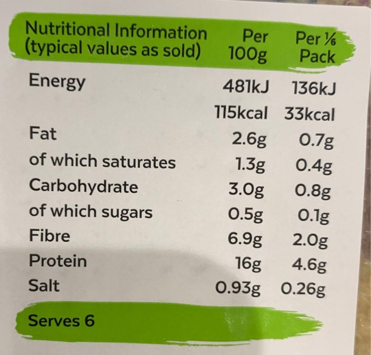 Vegeterian chicken slices - Informations nutritionnelles - en