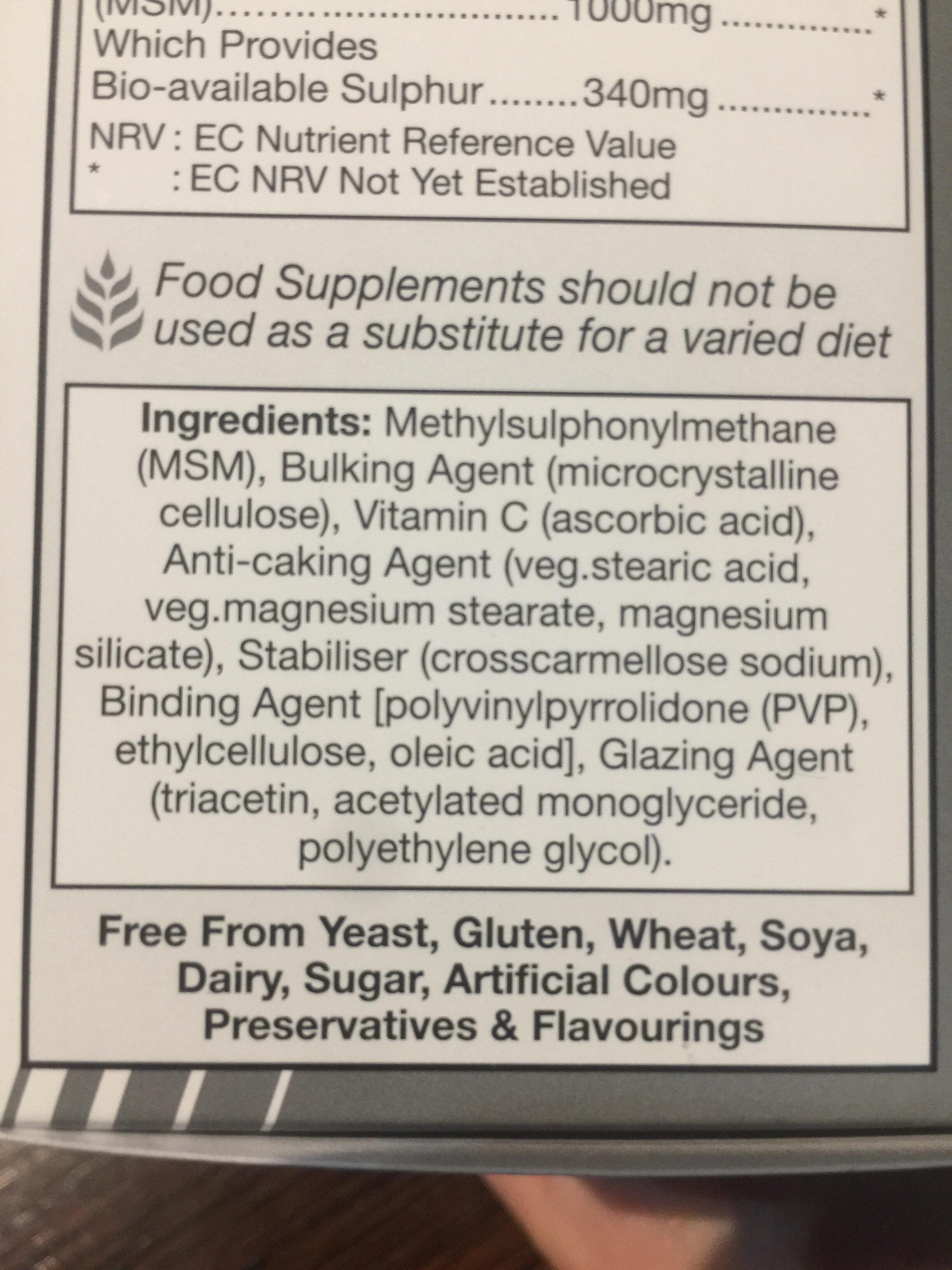 MSM - Ingredients - en