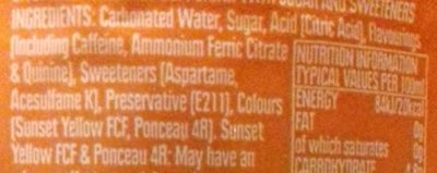 Irn-bru - Ingredients