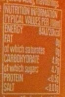 Irn-bru - Nutrition facts