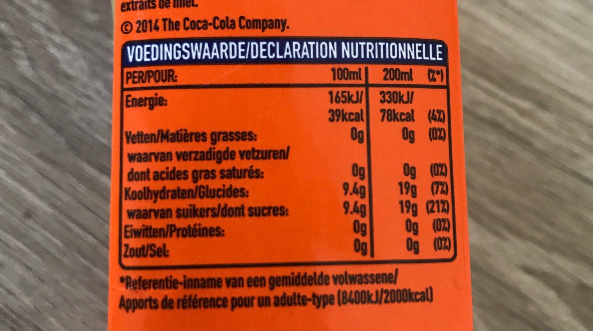 Jus fanta - Informations nutritionnelles - fr