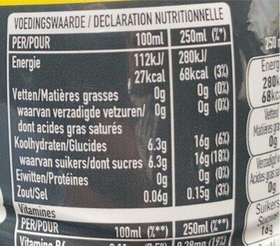Aquarius Lemon - Voedingswaarden - es