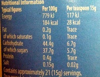 less sugar more fruit Strawberry Jam - Nutrition facts - en