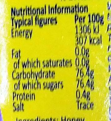 Honey with Vanilla - Nutrition facts - en