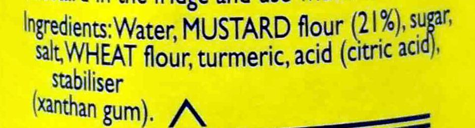 Original English Mustard - Ingredients - en