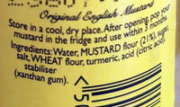 Original English Mustard - Ingrédients - en