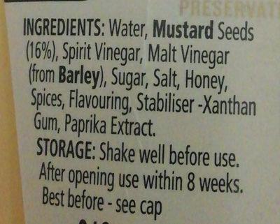 Yellow Mustard - Ingredients