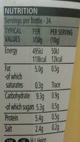 Yellow Mustard - Nutrition facts