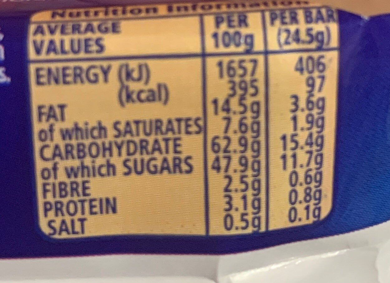 Mcvitie's Jaffa Cakes Cake Bar - Nutrition facts - en