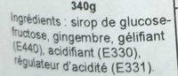 Ginger Extra Jam - Ingredients - fr