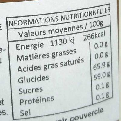 Ginger Extra Jam - Nutrition facts - fr