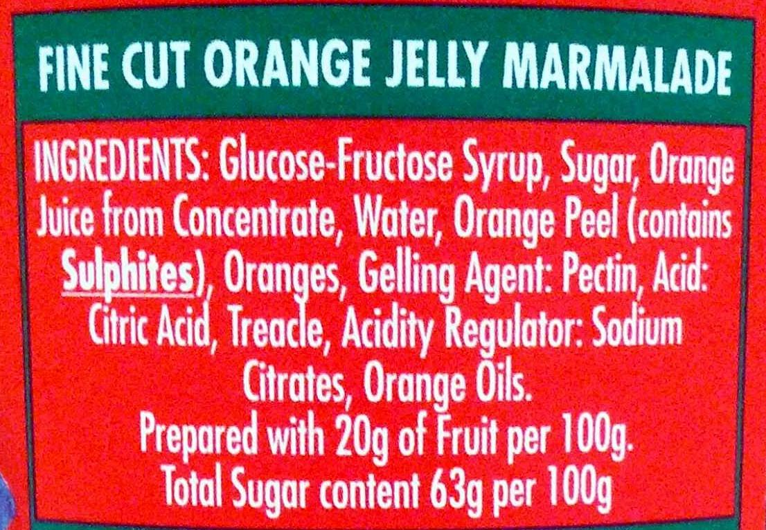 Golden Shred Marmalade - Ingredients - en