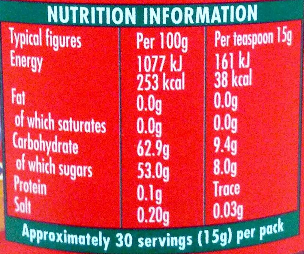 Golden Shred Marmalade - Nutrition facts - en