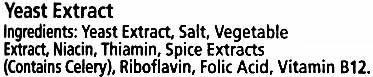 Marmite yeast extract - Ingrediënten - en