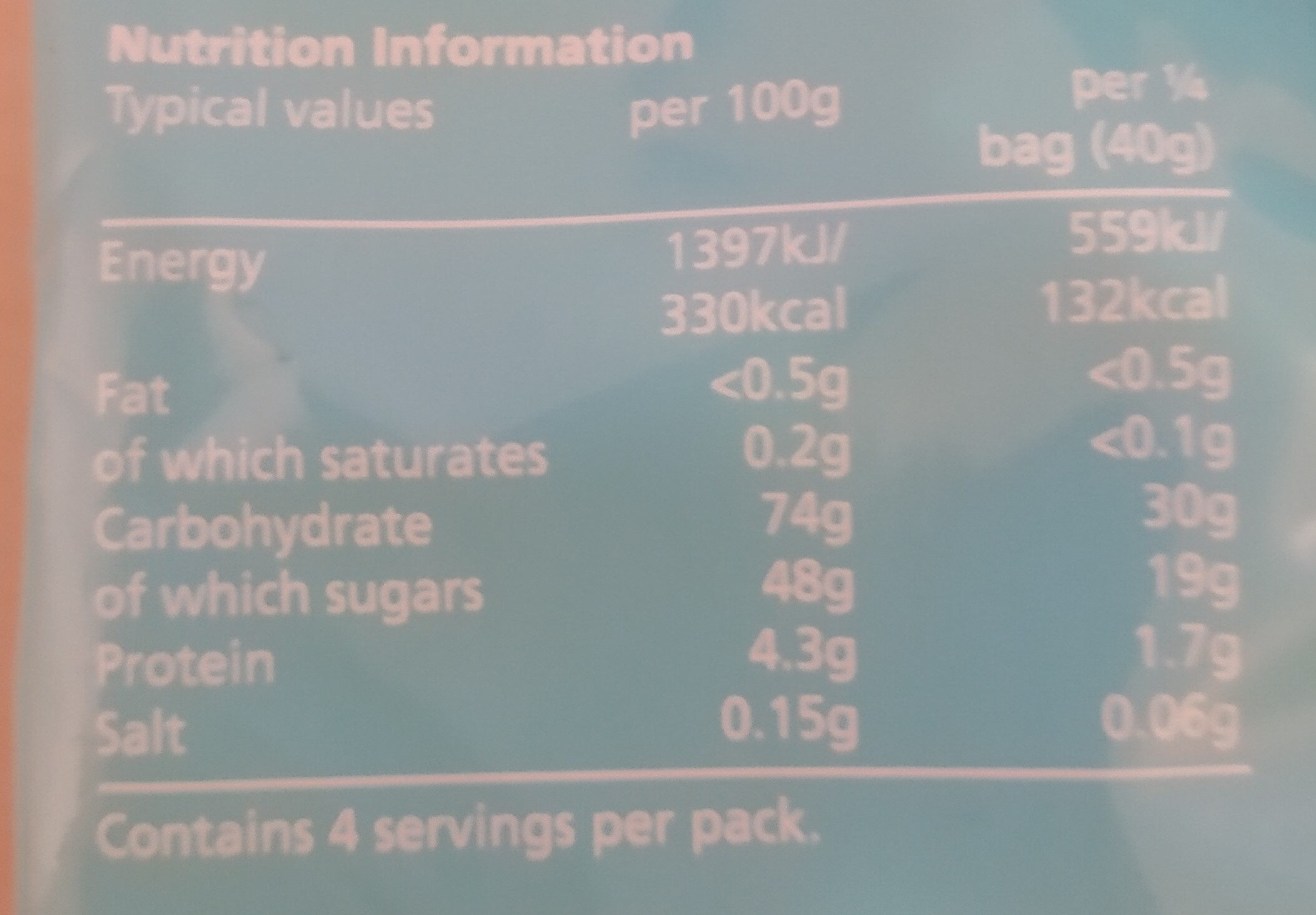Fizzy Tropical Fruit Slices - Nutrition facts - en