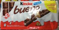 Kinder Bueno - Fines gaufrettes enrobées de chocolat au lait - Product - fr