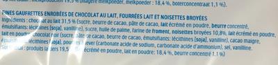 Kinder Bueno - Fines gaufrettes enrobées de chocolat au lait - Ingrediënten - fr