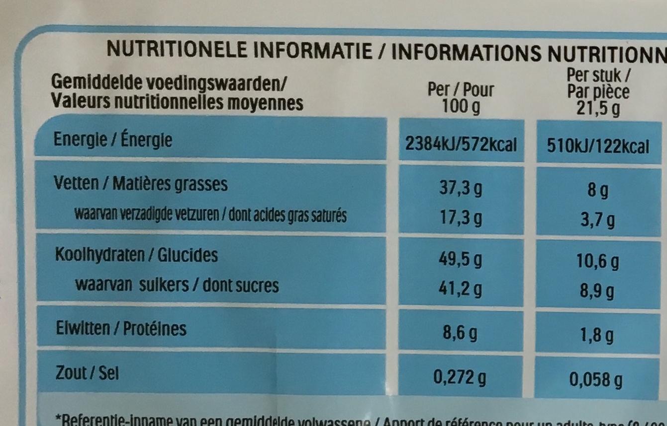 Kinder Bueno - Fines gaufrettes enrobées de chocolat au lait - Voedingswaarden - fr