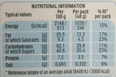 Nutella & Go! - Nutrition facts - en