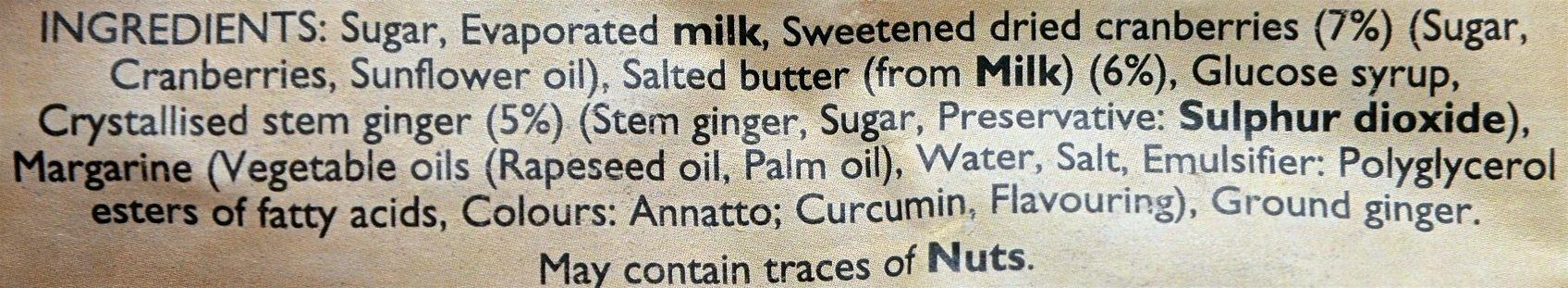 Indulgent Festive Fudge - Ingredients