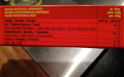 Rice Noodles - Valori nutrizionali - fr
