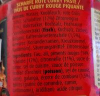 Hot red curry paste - Ingredienti - de