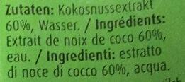 Kokosnussmilch - Ingrédients - fr