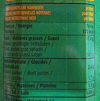 Kokosnuss-Milch - 栄養成分表 - fr