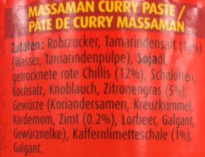AUTHENTIC THAI CUISINE THAI KITCHEN Massaman Curry Paste - Inhaltsstoffe - de