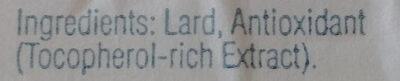 Just Lard - Ingredients - en