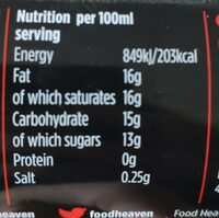 Heavenly whipped - Nutrition facts - en