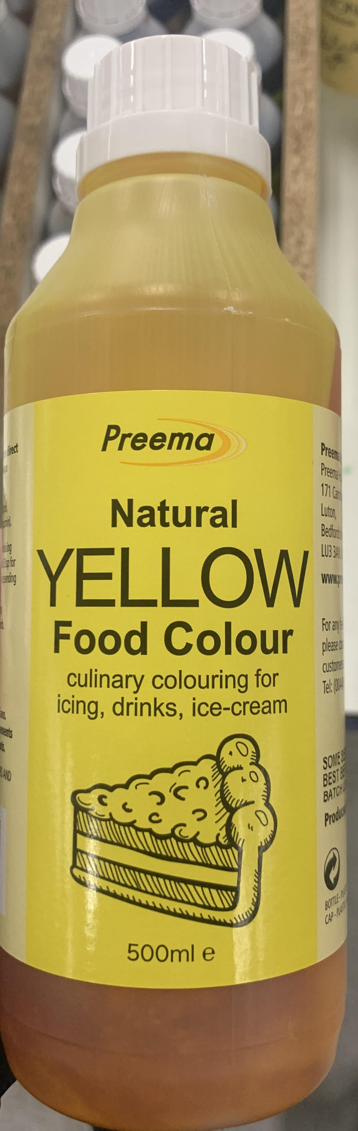 Natural yellow food colour - Produit - en
