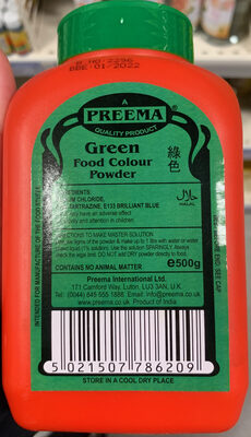 Green Food Colour Powder - Product - en