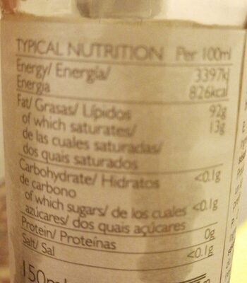 Toasted sesame oil - Informations nutritionnelles - es