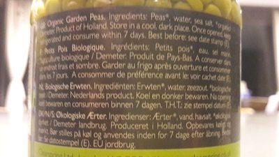 Garden peas - Ingrédients