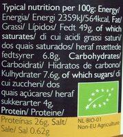 Bio Kitchen Organic Peanut Butter - Nutrition facts
