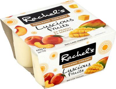 Rachel's Luscious Peach and Mango yogurts - Prodotto - en