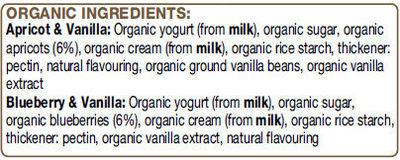 Rachel's Luscious Fruits and Vanilla Yogurts - Ingredienti - en