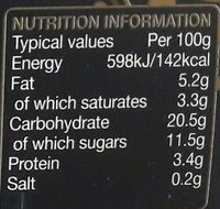 Rachel's Organic Divine Rice Traditional - Nutrition facts
