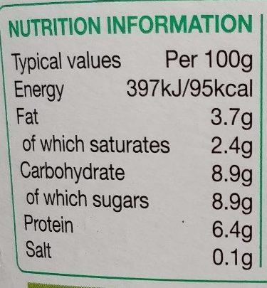 Rachel's Organic Natural Yogurt - Nutrition facts