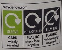 Rachel's organic bio live yogurt - Recycling instructions and/or packaging information - en