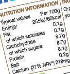 Yaourt greque - Nutrition facts - en