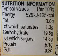 Rachel's Organic Low Fat Breakfast Vanilla Yogurt - Nutrition facts
