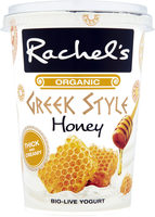 Rachel's Organic Greek Style Honey yogurt - Produit