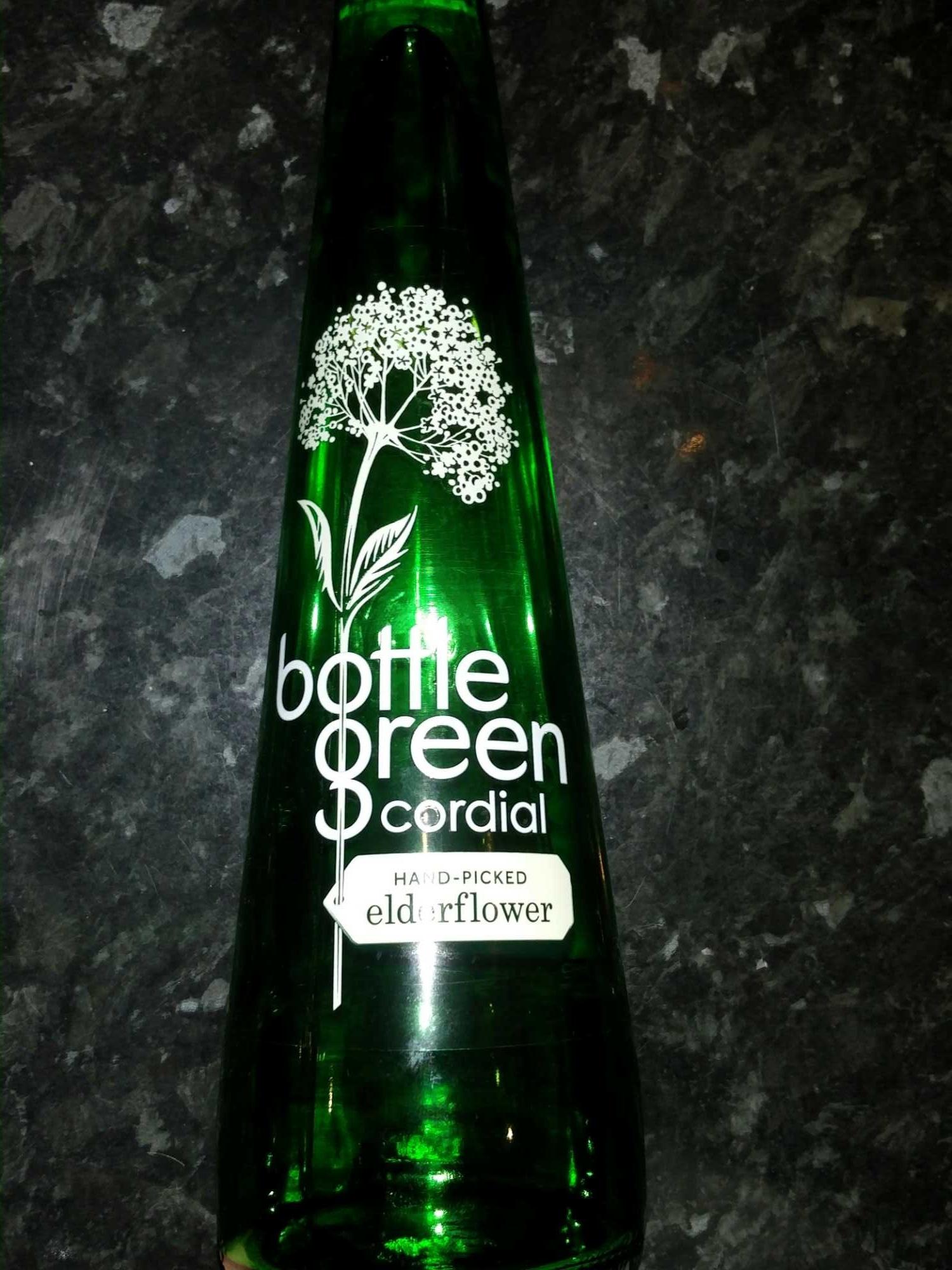 Bottle of Green Cordial (Handpicked Elderflower) - Product