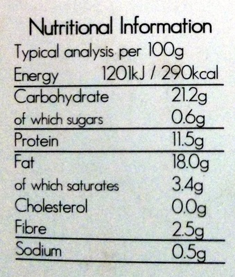 Chicken Style Nuggets - Nutrition facts - en
