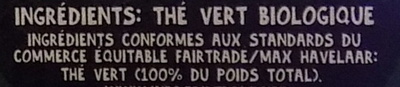 Thé vert - Ingrédients - fr