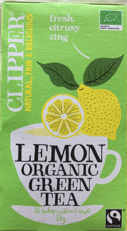 Lemon organic Green Tea - Product - en